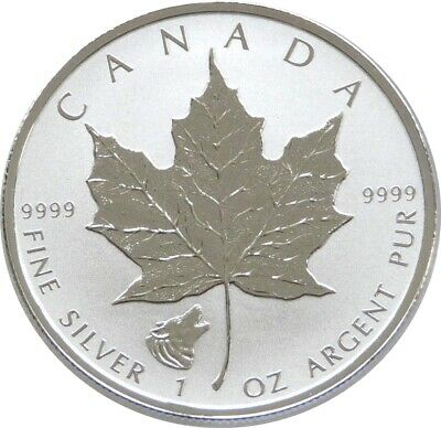 2016 Canada Wolf Privy Maple Leaf $5 Five Dollar Silver Reverse Proof 1oz Coin • 22£