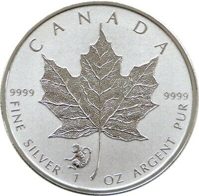 2016 Canada Lunar Monkey Maple Leaf $5 Five Dollar Silver Reverse Proof 1oz Coin • 2.20£