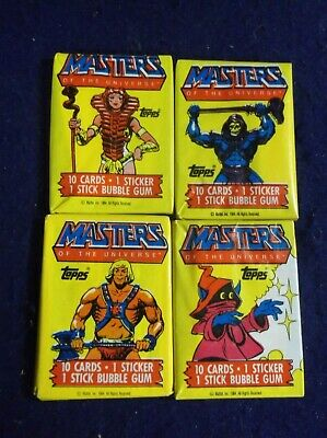 $39.99 • Buy He-man And The Masters Of The Universe 4 Unopened Pack Lot Topps 1984