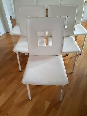 AU127 • Buy Modern Contemporary Dining Chairs White Vinyl(Qty=6)