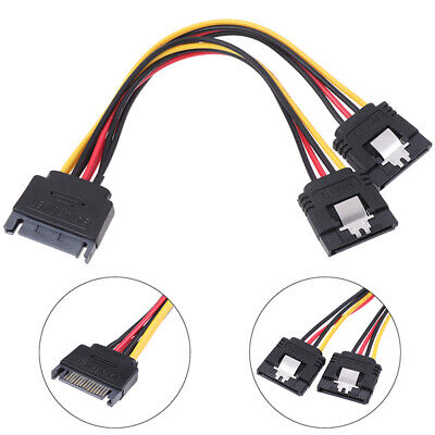 £3.46 • Buy 1Pc SATA Power 15-pin Y-Splitter Cable Adapter Male To Female For HDD Hard^DJ_6J