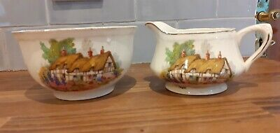 Alfred Meakin China Hathaway Cottage Jug & Bowl • 5£