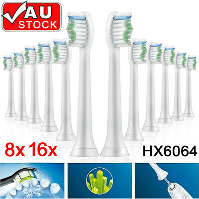 AU15.85 • Buy 8/16 Philips Sonicare Diamond Clean Toothbrush Brush Heads Replacement HX6064 AU