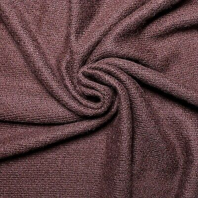 £12.99 • Buy Loose Knit Wool Fabric - Brown Colour - 4-way Stretch - Wool Jersey - Wool Blend