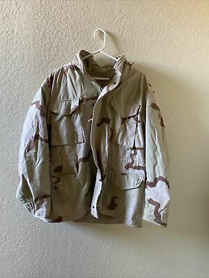 $65 • Buy USA M-65 Field Jacket Large Long Desert Tri-Color DCU Cold Weather Army Coat