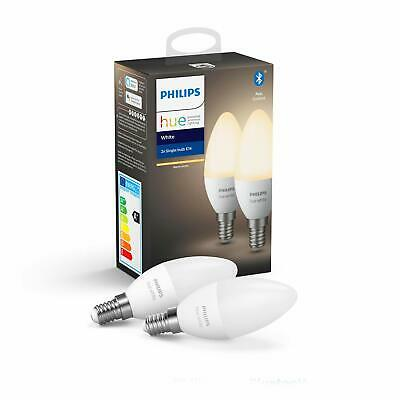 AU57.64 • Buy Hue White Smart Candle Bulb Twin Pack LED [E14 Small Edison Screw] With