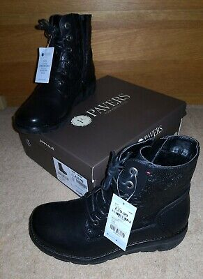 PAVERS 'Woil32031' Black Embossed Design Zip Boots Size 5/38 BRAND NEW IN BOX  • 29.99£