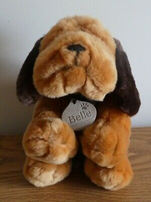£14.95 • Buy Keel Toys Belle Bloodhound Brown Dog 20cm Plush Toy Simply Soft Collection