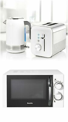 £204.99 • Buy Breville High Gloss Microwave Electric Kettle 2-Slice Toaster Breakfast Set