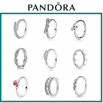 AU18.99 • Buy New Pandora Authentic Diamond Crown Silver Ring All Sizes + Jewelry Pouch