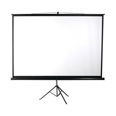 AU124.10 • Buy 100 Inch Projector Screen Tripod Stand Home Pull Down Outdoor Screens Cinema 3D