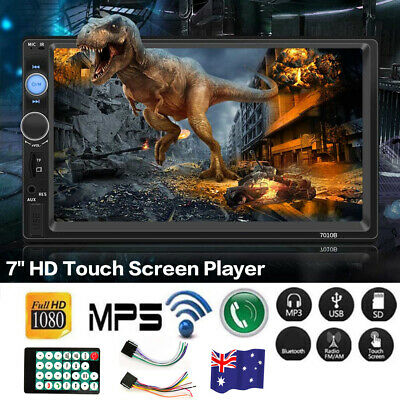 AU75.99 • Buy Double Din Car Stereo Radio For Apple CarPlay Android Carplay 7  MP5 Player FM