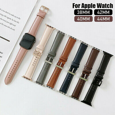 AU18.95 • Buy Genuine Leather Apple Watch Band For IWatch Series 6 5 4 3 2 SE 42/44mm 38/40mm