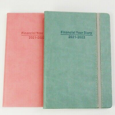 AU13.45 • Buy 2021-2022 Finacial Year Diary A5 Size Week To View With Elastic 145mm X 214mm