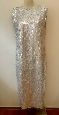 AU20 • Buy ASOS Pale Pink  Sequin Dress Size UK 10 NWT
