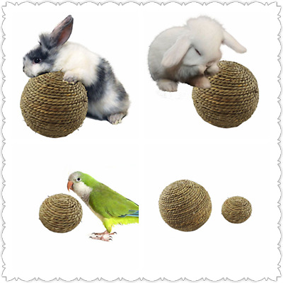 £3.45 • Buy 1pcs Pet Teeth Chew Grinding Natural Grass Ball Toys Hamster Bes For Rabbit