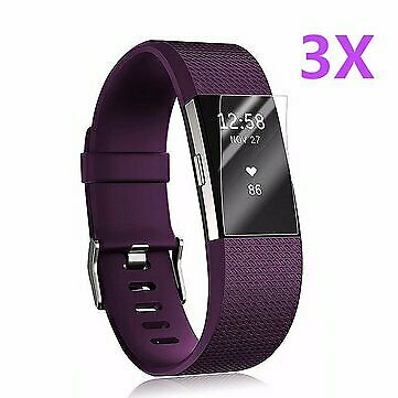 AU14.95 • Buy 3x Anti-Scratch Clear HD Screen Protector Films Shield Guard For Fitbit Charge 2