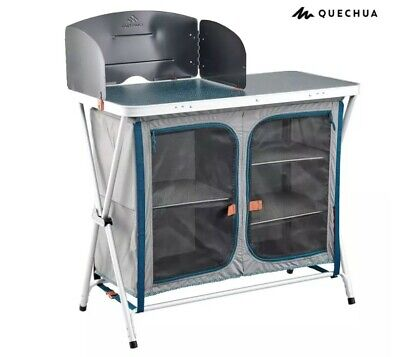 Quechua Folding Camping Kitchen Storage Unit Dining Cooking Tent Garden BBQ  • 99.99£