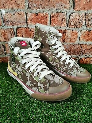 £26.99 • Buy QUICKSILVER Camo Hi Top Skateboarding Shoes Men's Size UK 8/eu 42