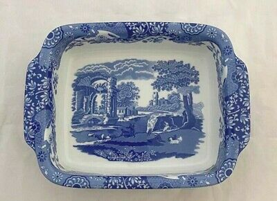 £40 • Buy Spode Blue Italian - Large Serving / Baking Dish Eared Handles Excellent Cond.