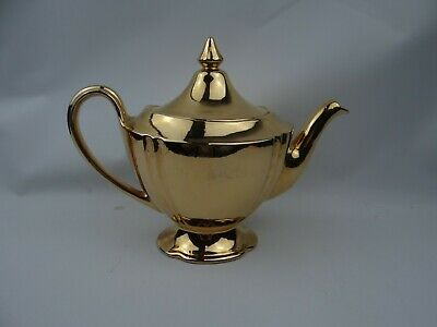 $ CDN34.08 • Buy Royal Winton Gold Tea Pot Grimwades England Golden Age Retro Vintage