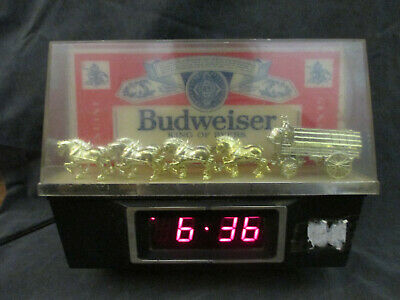 $ CDN90.69 • Buy Budweiser King Of Beers Lighted Sign With Clydesdale Team And Wagon