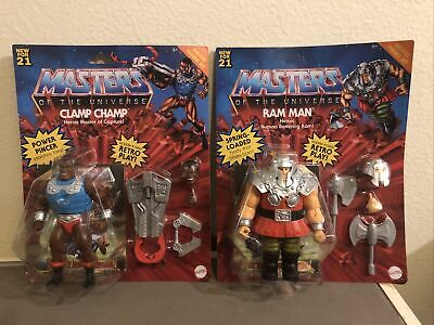 $53 • Buy Mattel 2021 Masters Of The Universe Origins Champ Clamp Ram Man Wave 2 Set - NEW