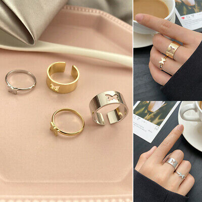 £2.18 • Buy Matching Lover Open Rings Set Unisex Jewelry Couple Rings Vintage Butterfly Ring