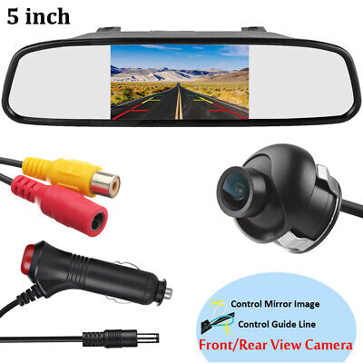 AU45.99 • Buy 5 Inch 800*480 TFT LCD HD Screen Monitor With Car RearView Reverse Backup Camera