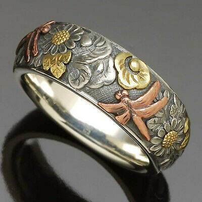 AU2.45 • Buy Creative Jewelry For Women 925 Silver Rings Gifts Party Band Rings Size 6-10