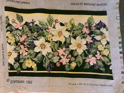 Ehrman Tapestry Completed Cushion Picture Woodland Spring Margaret Murton • 27£