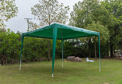 3x 3m Garden Gazebo Marquee Canopy Camping Party Wedding Tent  Shelter W/ 4 Side • 66.09£