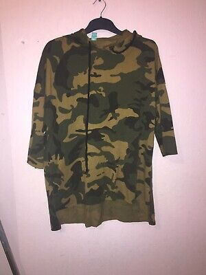Green Camouflage Hoodie Hooded Style: Oversized Jacket Size 8 • 9.85£