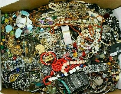 $ CDN42.34 • Buy 3 + Pounds Lbs Vintage Modern Jewelry Junk Craft Mix Lot Box Unsearched Tangles