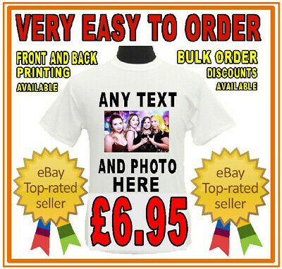 £8.95 • Buy Custom Personalised T Shirt Stag Do Hen Party Your Text Photo Funny Birthday