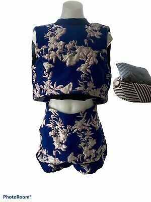 AU94.95 • Buy Scanlan Theodore, Dark Blue Shorts And Crop Set, Size 10, Worn Once, Perfect