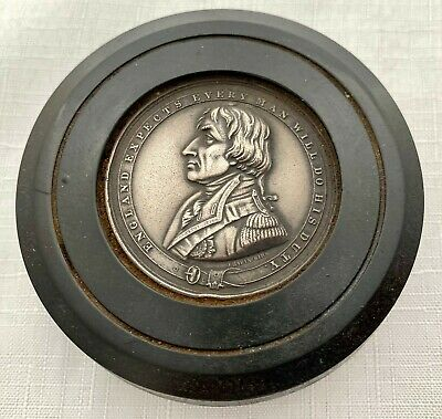 £248 • Buy 19th Century Bois Durci Snuff Box With Admiral Lord Nelson Profile.