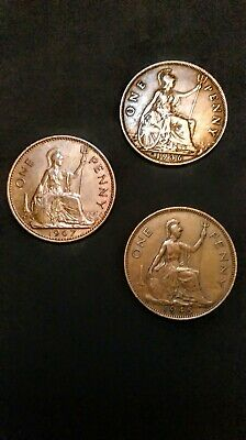 £500 • Buy Rare 1p Coin 1936. 1945 .1967. Copper With The Heads Of 3 Seperate Monarchs