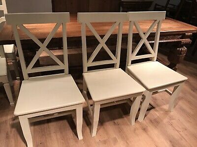 £29.99 • Buy Farmhouse/country/shabby Chic/ Painted Cross Back Dining Chairs