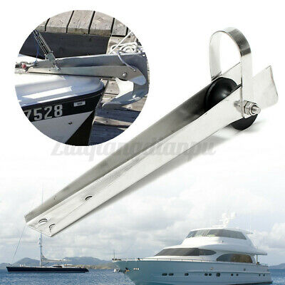 316 Stainless Steel Marine Boat Bow Anchor Self Launching Fixed Roller A • 32.41£