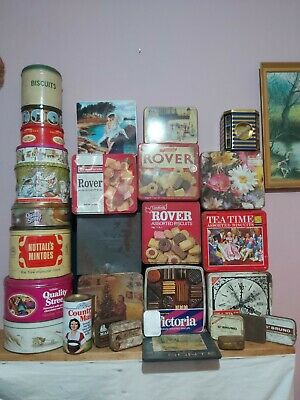 X30 Vintage Tins Etc -ex Shop Desplay - - Sweet - Biscuites -  Etc See Pics  • 9.99£