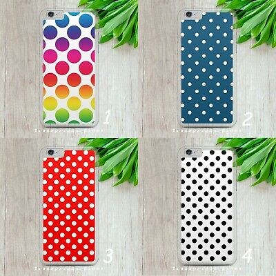 £5.99 • Buy Polka Dot Pattern Spots Retro Hard Phone Case Cover For Iphone Samsung Huawei