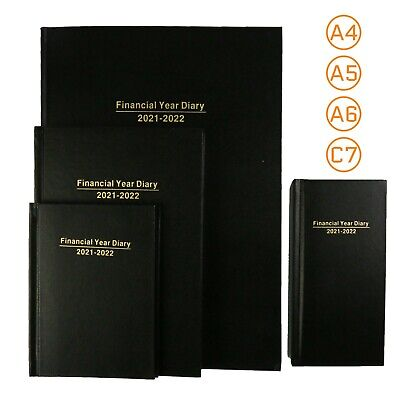 AU19.55 • Buy Financial Year Diary 2021-2022 A4/A5/A6/C7 Black Hard Cover Day/Week To View