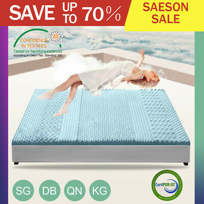 AU69.99 • Buy Memory Foam Mattress Topper COOL GEL Bed BAMBOO Protector 5CM/8CM Thick 7-Zone