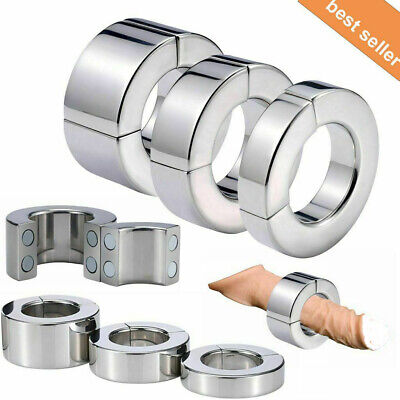 £13.26 • Buy Heavy Duty Magnetic Stainless Steel Ball Stretcher Man Enhancer Chastity Ring
