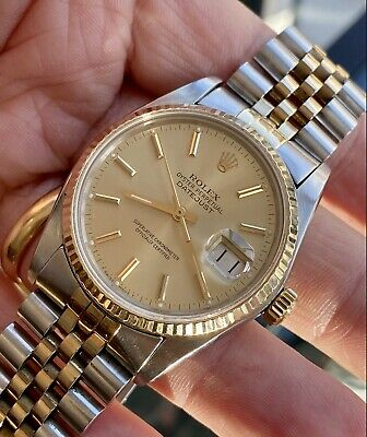 $ CDN7241.71 • Buy Rolex Two Tone Gold Steel Automatic Perpetual Vintage Mens 16013 1979 Watch