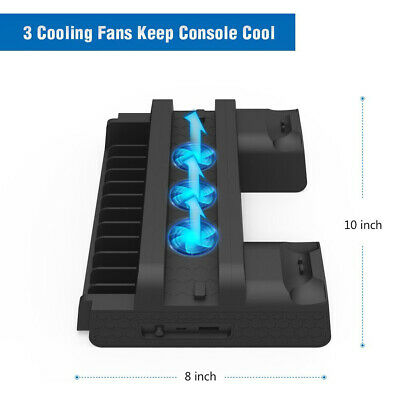 AU26.99 • Buy Cooling Fan Vertical Stand For PS4 Pro Slim Controller Charging Dock Station