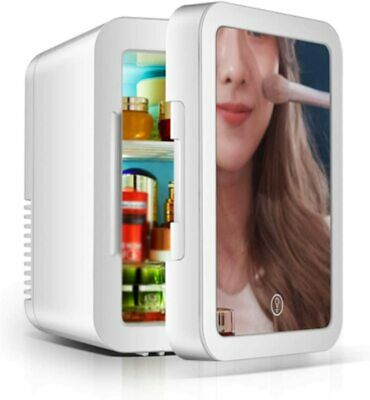 AU69.99 • Buy 8L Mini Makeup Fridge LED Mirror Cosmetics Beauty Refrigerator Portable Cooler