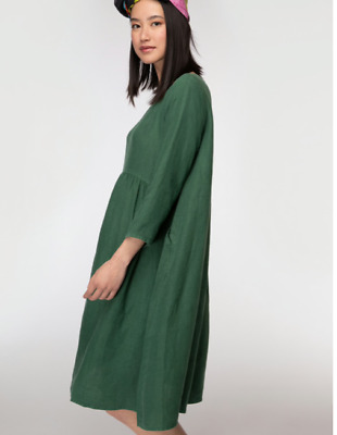 AU91 • Buy 🌱🍃🌱🍃 【New 】 Gorman Green  GROWERS  Linen Smock Curve Dress Size 14 L