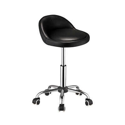 £19.99 • Buy Salon Stool Massage Chair Faux Leather Bar Gas Lift Swivel Stool With Wheels